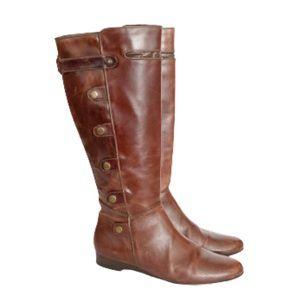 Matt Bernson Brown leather snap riding boots 8